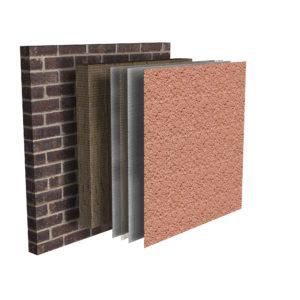 External Wall Insulation System Render